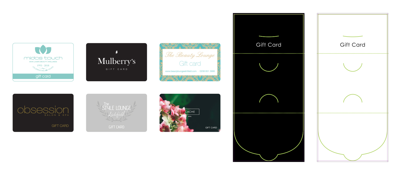 Salon Branded Gift Cards Examples
